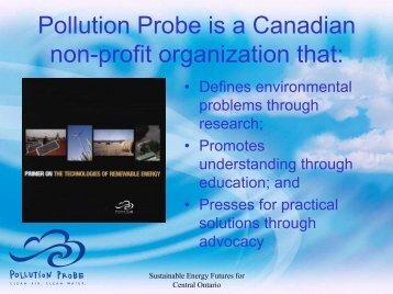 Quentin Chiotti, Pollution Prob - Pollution Probe