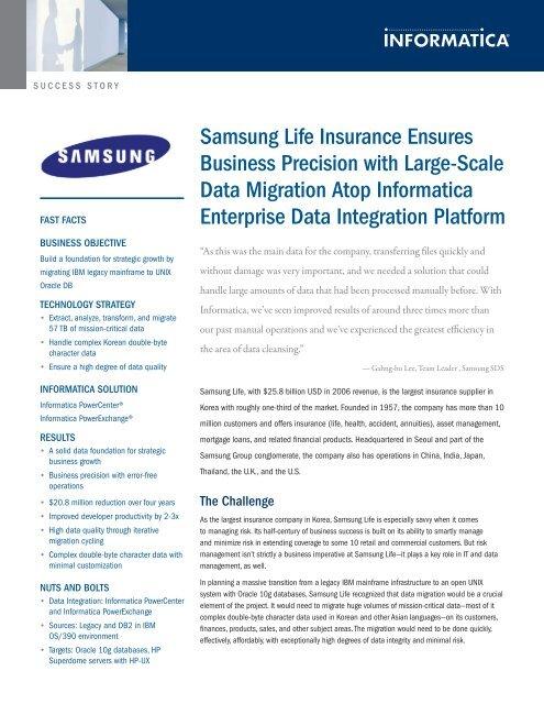 Samsung Life Insurance Ensures Business Precision