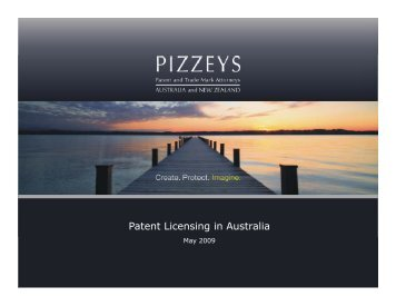 Patent Licensing in Australia - Federal Laboratory Consortium for ...