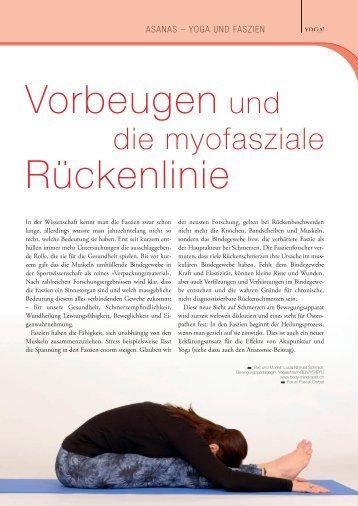 Vorbeugen und die myofasziale Rückenlinie - YOGA! Das Magazin