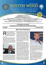 New Year Predictions - The Rotary Club of Bangkok South