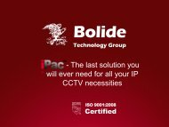 Bolide Technology Group - IP UserGroup
