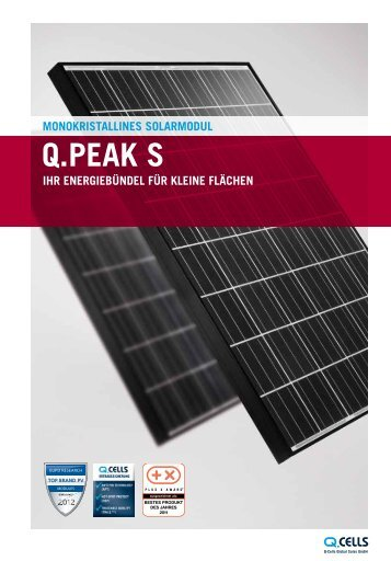 Produktflyer Q.PEAK S PDF-Download - Q.Cells