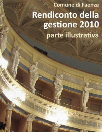 consuntivo 2010 - parte illustrativa - Comune di Faenza