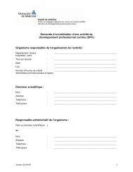 Demande d'accréditation d'une activité de développement ... - CPASS
