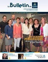 Bulletin No 1 Juin 2012 - CPASS - Université de Montréal
