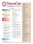 Table of Contents and Publisher's information - International Trauma ... - Page 3