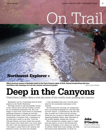 Deep in the Canyons - Washington Trails Association