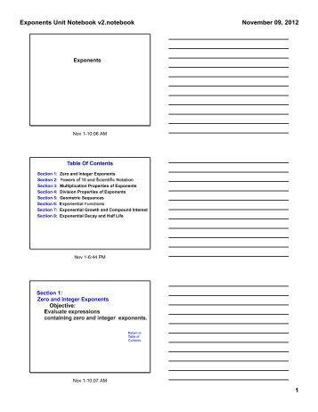 7-6 Practice Form K Expon