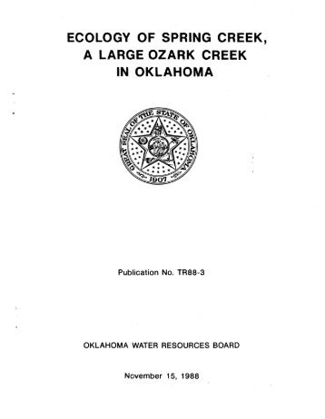 Ecology of Spring Creek, A Large Ozark Creek in Oklahoma - Water ...