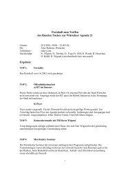 Protokoll Runder Tisch 28.08.01 - Agenda-wuerselen.de