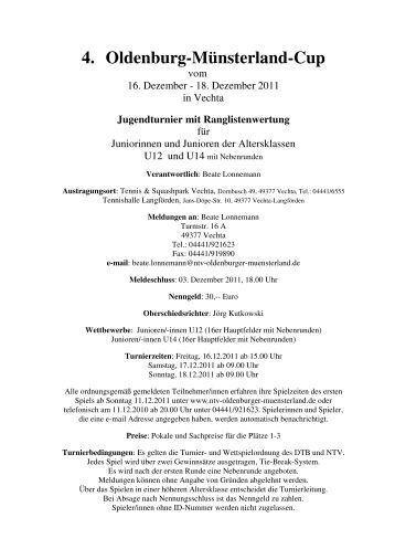4. Oldenburg-Münsterland-Cup - Ntv-oldenburger-muensterland.de