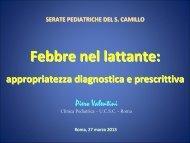 La febbre nel lattante - Azienda ospedaliera S.Camillo-Forlanini