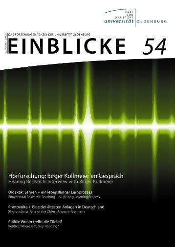 54 - Presse & Kommunikation - Carl von Ossietzky Universität ...