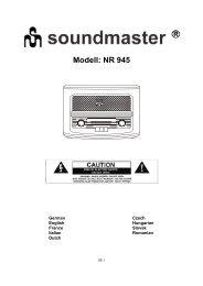 Die Bedienungsanleitung für das Soundmaster NR 945 finden Sie