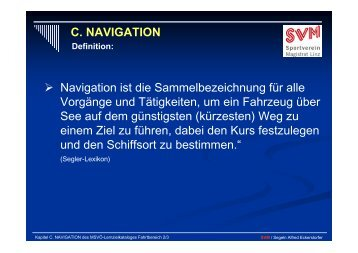 C. NAVIGATION - PV