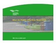 Bilan PGMR 2009 [Lecture seule] - Plan de gestion des matières ...