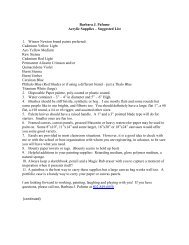 Barbara J. Pafume Acrylic Supplies – Suggested List 1. Winsor ...