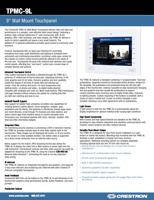 Spec Sheet: TPMC-9L - 9