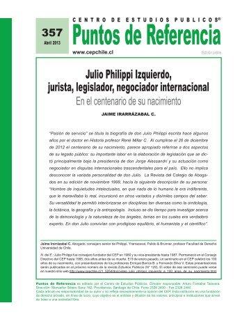 Julio Philippi Izquierdo, jurista, legislador, negociador internacional ...