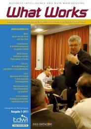 Ausgabe 1-2011 - TDWI Germany eV