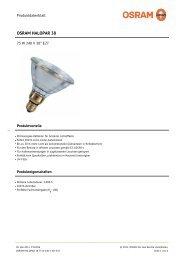 osram halopar 38 75 w 240 v 30° e27 - Leuchtstark