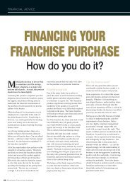 financing your franchise purchase - Business Franchise Magazine