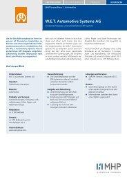 W.E.T. Automotive Systems AG - Mieschke Hofmann und Partner