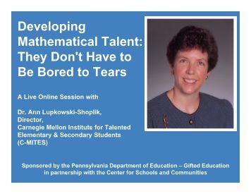 Developing Mathematical Talent - Radnor School District