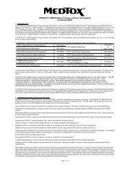 Package Insert Rev 3/12 - Medtox