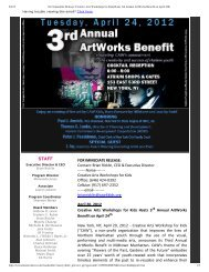 For Immediate Release_ Creative Arts Workshops for Kids Hosts 3rd ...