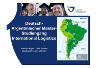 Deutsch- Argentinischer Master- Studiengang ... - Kieserling Stiftung