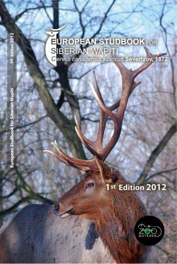 European Studbook for Siberian wapiti Cervus ... - Zoo Ostrava