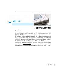 colibri X6 Short Manual - Robust-pc.de