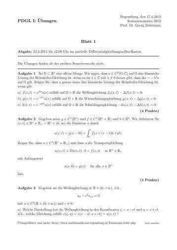 PDGL I: ¨Ubungen Blatt 1 - Mathematik