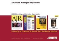A Family of Products To Reach Your Radiology Market - American ...