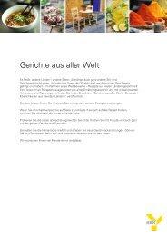 Gerichte aus aller Welt - BKK in Bayern