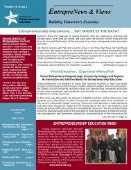Volume 14 - Number 2 - Consortium for Entrepreneurship Education