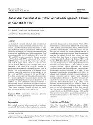 Antioxidant Potential of an Extract of Calendula officinalis Flowers in ...
