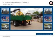 Whole Vehicle Type Approval 2013 - Freight Transport Association