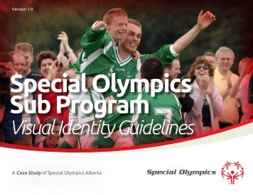 Visual Identity Guidelines (PDF) - Special Olympics Michigan