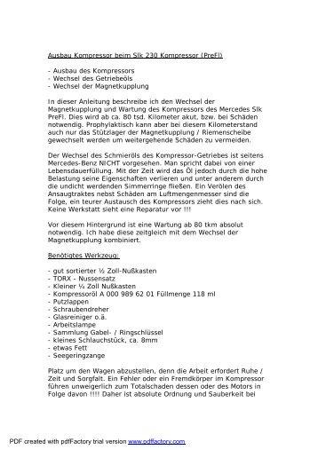 SLK-Kompressorausbau Final Version.wps - PureVision