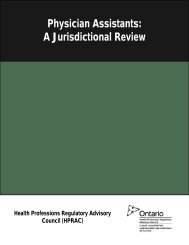 Physician Assistants: A Jurisdictional Review - Health Professions ...