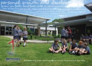 personal growth and development - Bethany Lutheran Primary School