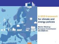 2030 climate and energy framework