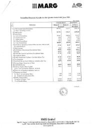 Financial Results for Jun 11 - MARG Group