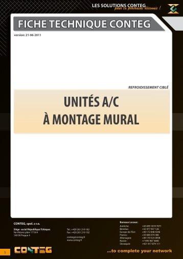 UNITÉS A/C À MONTAGE MURAL - Conteg