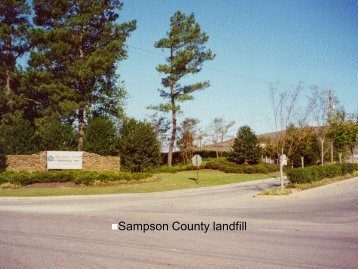 Photos of a Subtitle D Landfill located in Sampson County, NC