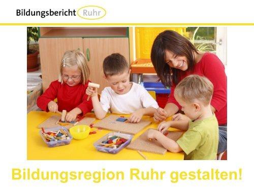 Präsentation Modul 1 - Frühkindliche Bildung - Bildungsbericht Ruhr