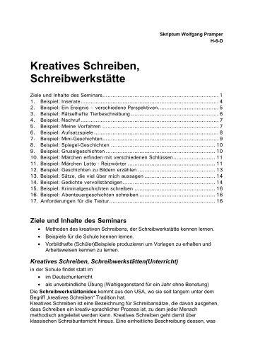 Schreibwerkstatt schreiben malen schreiben malen for Wolfgang pramper
